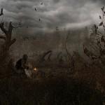 Сталкер идет в Рыжий лес за артефактами